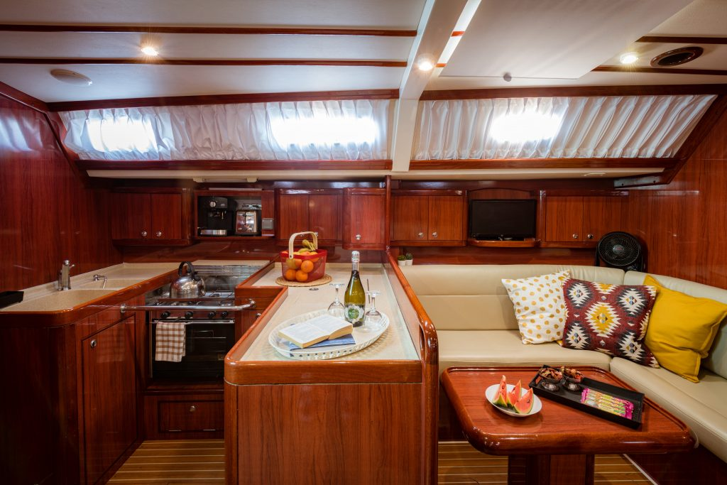 sailing yacht interior galley
