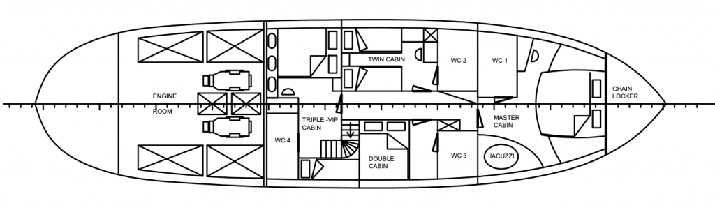 cosmos lower deck layout